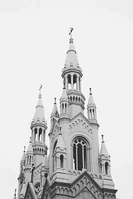 Black And White Art Photograph - Saints Peter And Paul Church 1- By Linda Woods by Linda Woods