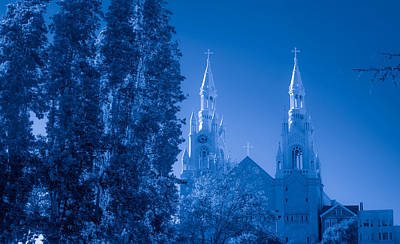 Photograph - Saints Peter And Paul Church In Blue by Bonnie Follett
