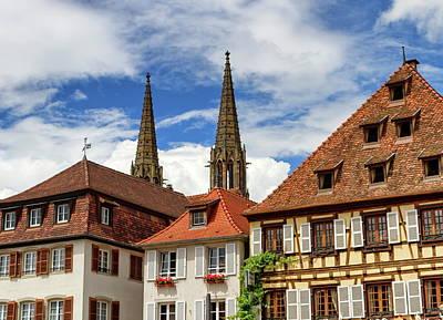 Photograph - Saints-pierre-et-paul Church Towers In Obernai, France by Elenarts - Elena Duvernay photo