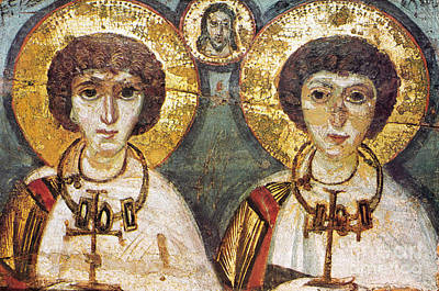 Saints Sergius And Bacchus Print by Granger