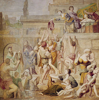 Saitn Cecilia Distributing Alms Art Print by Domenichino