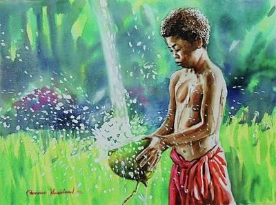 Painting - Sakai Boy by Wanvisa Klawklean