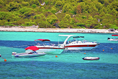 Photograph - Sakarun Beach Yachting Bay Boats View by Brch Photography