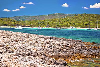 Photograph - Sakarun Beach Yachting Bay View On Dugi Otok Island by Brch Photography
