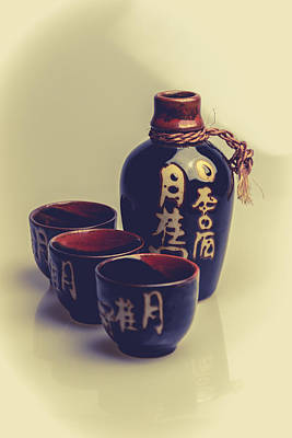Sake Bottle Photograph - Sake by A Souppes