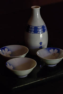 Photograph - Sake Set 2 by Susan Rissi Tregoning