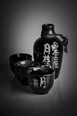 Sake Bottle Photograph - Sake Set by A Souppes