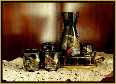 Photograph - Sake Set by James C Thomas