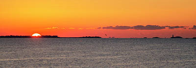 Sunrise Photograph - Sakonnet Point Sunrise And Lighthouse by Bill Cannon