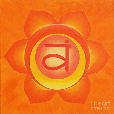 Wall Art - Painting - Sakral Chakra by Anna Martinsen