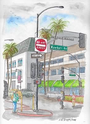 Saks Fth Avenue In Wilshire Bvd., Beverly Hills, California Original by Carlos G Groppa