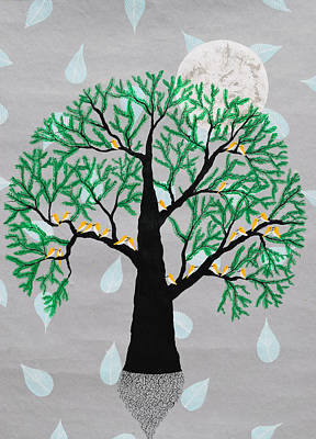 Tree Roots Painting - Saksham Vriksh by Sumit Mehndiratta