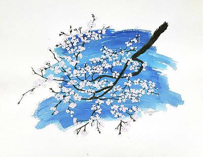 Sakura Painting - Sakura Blossoms In Kyoto by Rey Pineda