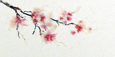 Sakura Branch Art Print