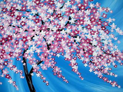 Sakura Painting - Sakura Cascade by Cathy Jacobs