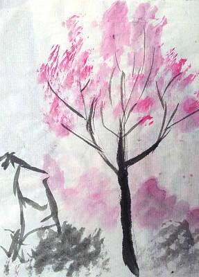 Wall Art - Painting - Sakura by Helen Krummenacker