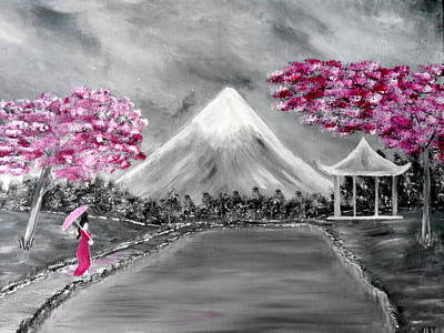 Painting - Sakura - Japanese Dreams by Bernd Hau