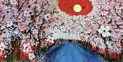 Sakura Painting - Sakura by Jessica Perez-Jackson