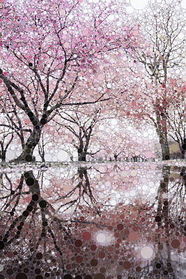 Mixed Media - Sakura Spring Pink by Susan Maxwell Schmidt