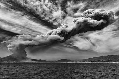 Art Print featuring the photograph Sakurajima Volcano by Hayato Matsumoto