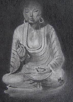 Buddhist Drawing - Sakyamuni by Nick Young