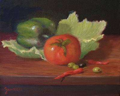 Painting - Salad By Alan Zawacki by Alan Zawacki