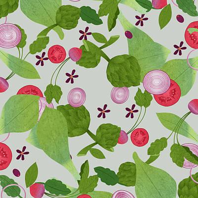 Artichoke Digital Art - Salad by David Perez