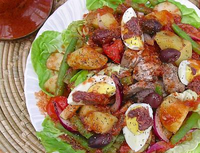 Vinaigrette Photograph - Salad Nicoise With Sweet Paprika Vinaigrette by James Temple