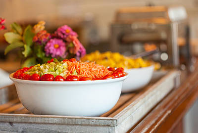 Photograph - Salad On A Buffet Table by Melinda Fawver