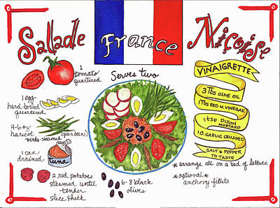 Painting - Salade Nicoise by Diane Fujimoto