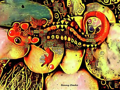 Salamanders Digital Art - Salamander Dreams by Bunny Clarke