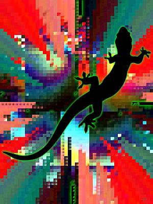 Digital Art - Salamander Mosaic by Maciek Froncisz