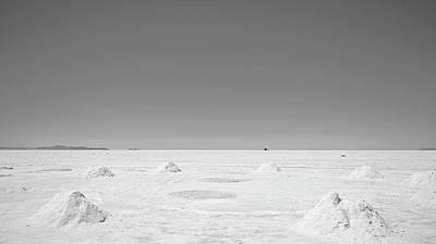 Photograph - Salar De Uyuni, Bolivia - Black And White by Sandy Taylor