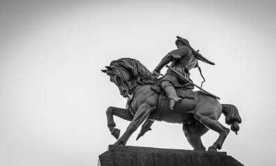 Bashkortostan Photograph - Salavat Yulaev Statue In Ufa Russia by John Williams