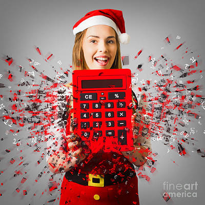 Photograph - Sale Assistant With Christmas Discount by Jorgo Photography - Wall Art Gallery