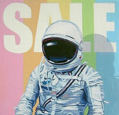 Astronauts Painting - Sale by Scott Listfield