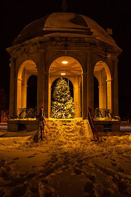 Photograph - Salem Bandstand At Christmas by Jeff Folger