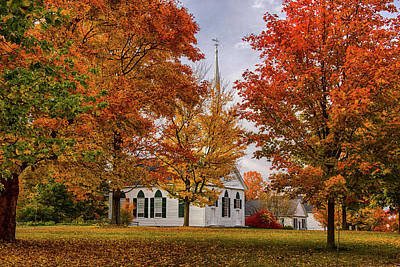 Photograph - Salem Church In Autumn by Jeff Folger
