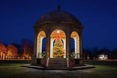 Photograph - Salem Common Christmas Tree Salem Ma by Toby McGuire