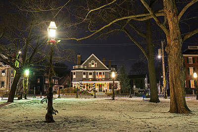 Photograph - Salem Commons Winter Snow At Christmas Salem Ma by Toby McGuire