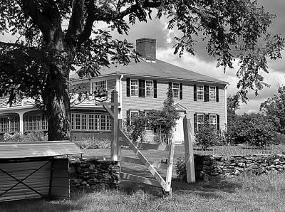 Salem Cross Inn Photograph - Salem Cross Inn Bw by Bill Dussault