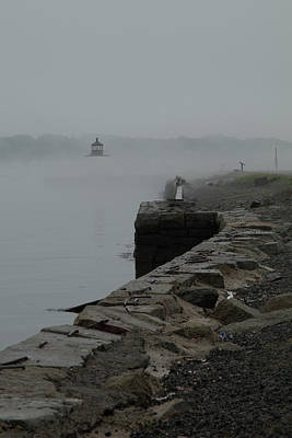Photograph - Salem Harbor In Fog by Jeff Folger