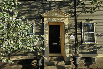 Photograph - Salem Historical Home Trees And Shadows Salem Ma by Toby McGuire