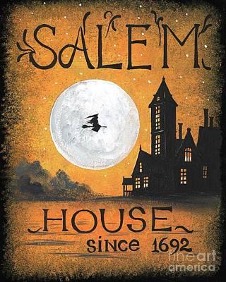 Haunted House Painting - Salem House by Margaryta Yermolayeva