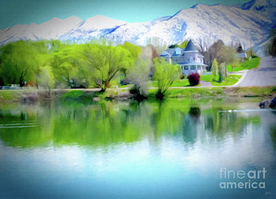 Digital Art - Salem Lake Utah Large Canvas Art, Canvas Print, Large Art, Large Wall Decor, Home Decor, by David Millenheft
