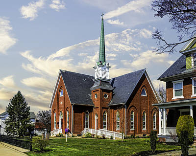 Photograph - Salem Lutheran Church by Nick Zelinsky