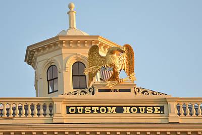 Photograph - Salem Ma Custom House Eagle by Toby McGuire