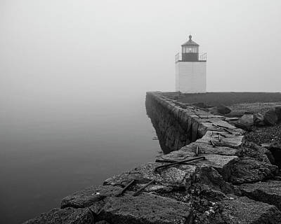 Photograph - Salem Ma Derby Wharf In Heavy Fog by Toby McGuire