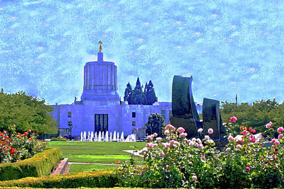 Salem Oregon State Capital Art Print by Margaret Hood