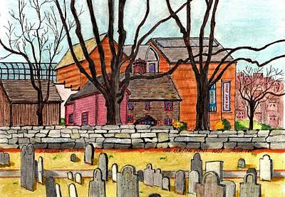 Drawing - Salem The Buring Point by Paul Meinerth